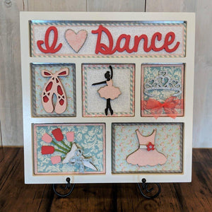 I Love Dance Shadow Box Kit