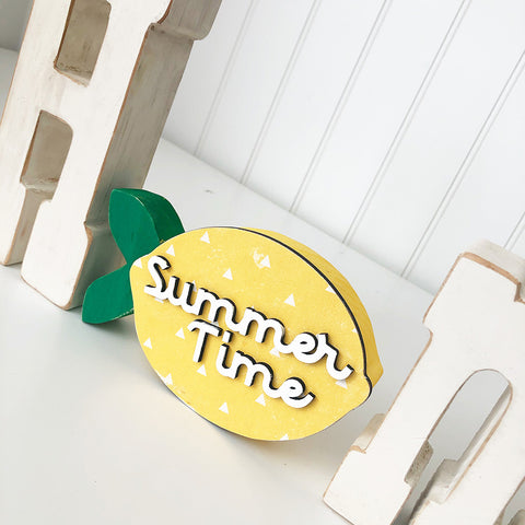 Block Words - Summer Lemon