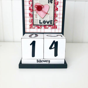 Block Countdown - February / Valentine's Day