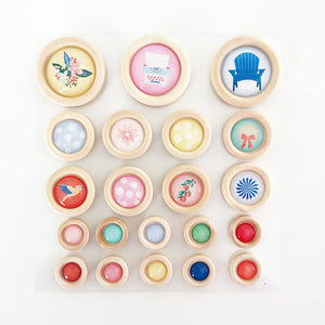 Peachy Keen - Wood Buttons