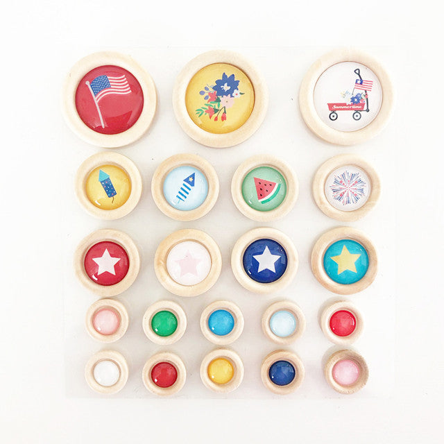 Hometown Summer - Wood Buttons