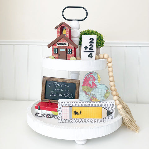 Tray - Sep Kit (Book Stack, Flashcard, Heart Map, Pencil)