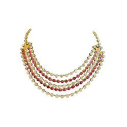Ruby and Diamond Five-Row Necklace