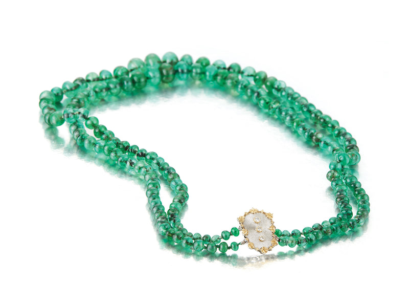 Buccellati Emerald Bead necklace