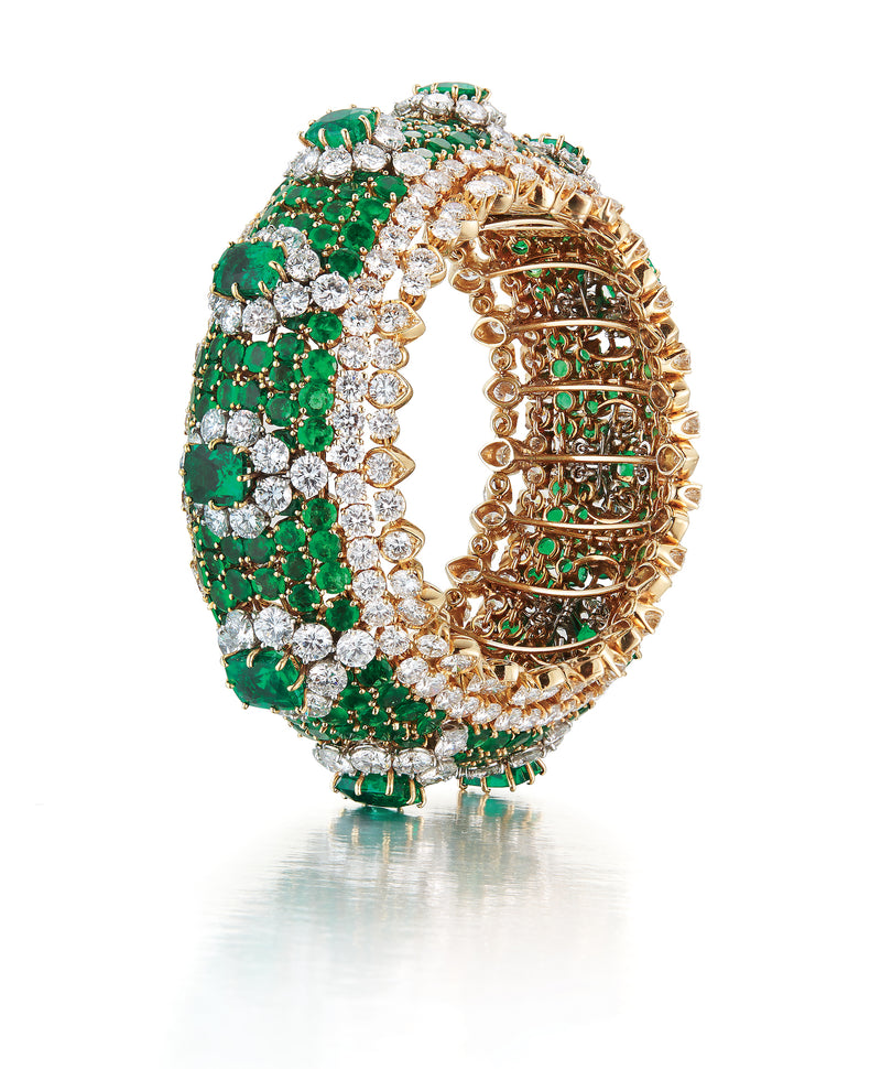 Van Cleef and Arpels Emerald and Diamond Bracelet