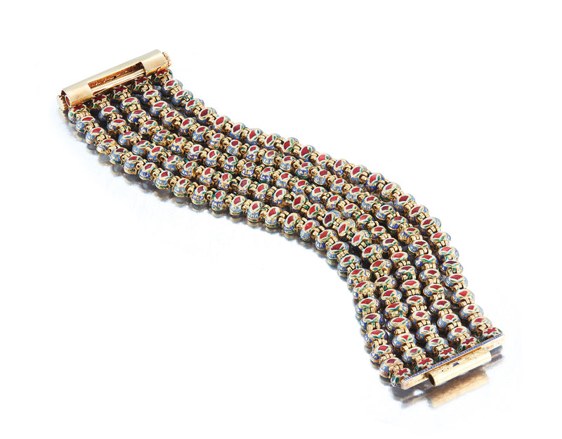 Mughal Diamond Bracelet with enamel