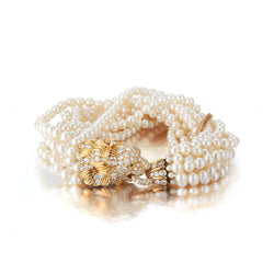 Van Cleef and Arpels Pearl Lion Bracelet