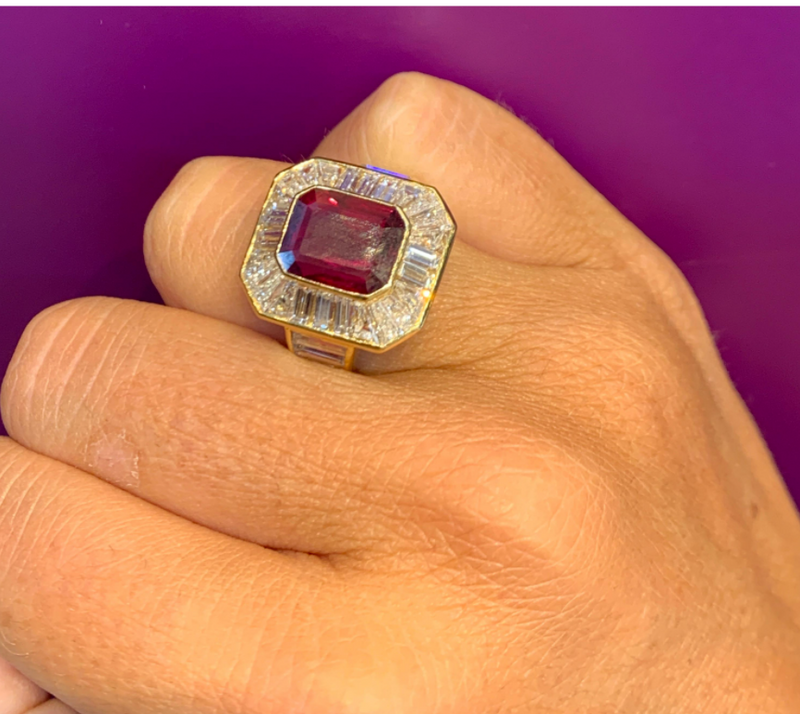 Van Cleef & Arpels Men's Ruby and Diamond Ring