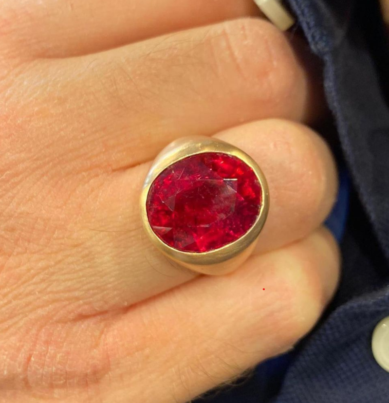 Men's Rubelite Ring