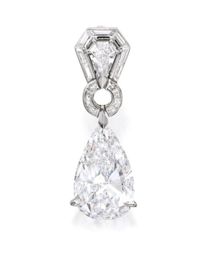 Van Cleef and Arpels 8.45 D Flawless Diamond Necklace Pendant