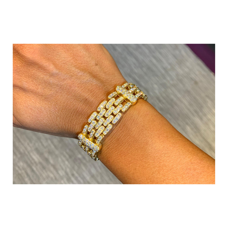 Yellow Gold and Diamond Men's Bracelet