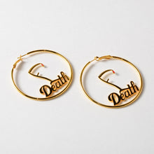 Load image into Gallery viewer, FDeath Scythe 60mm Gold Hoop Earrings