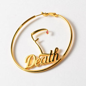 FDeath Scythe 60mm Gold Hoop Earrings