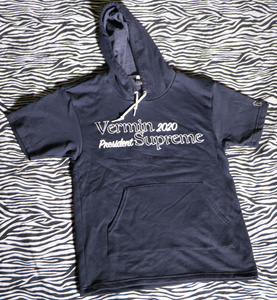 VERMIN SUPREME - SHORT SLEEVED HOODIE (AMERICAN APPAREL)