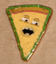 "Load image into Gallery viewer, Voice of Pizza Enamel 1"" Pin"