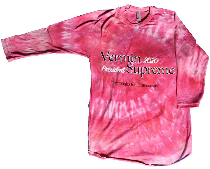 Vermin Supreme American Apparel 3/4 sleeve raglan w/ illustration by DeathMask