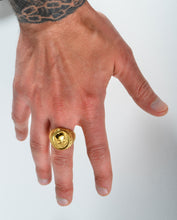 "Load image into Gallery viewer, L.U.M. ""Send Em 2 Tha Essence"" Gold Ring"