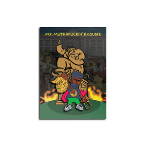 "Mr. Muthafuckin' eXquire ""BLM Bart"" Soft Enamel Pin *Presale* (limited edition of 100)"