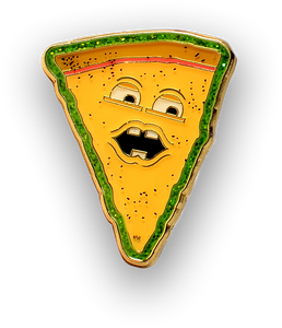 "Voice of Pizza Enamel 1"" Pin"