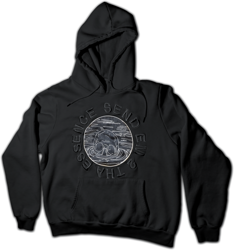 LIL UGLY MANE - SEND EM 2 THA ESSENCE BLACK 3D EMBROIDERED HOODIE