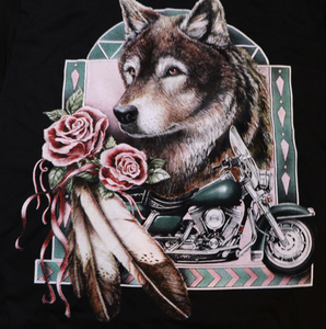 Wolf Motorcyle Rose - new old stock
