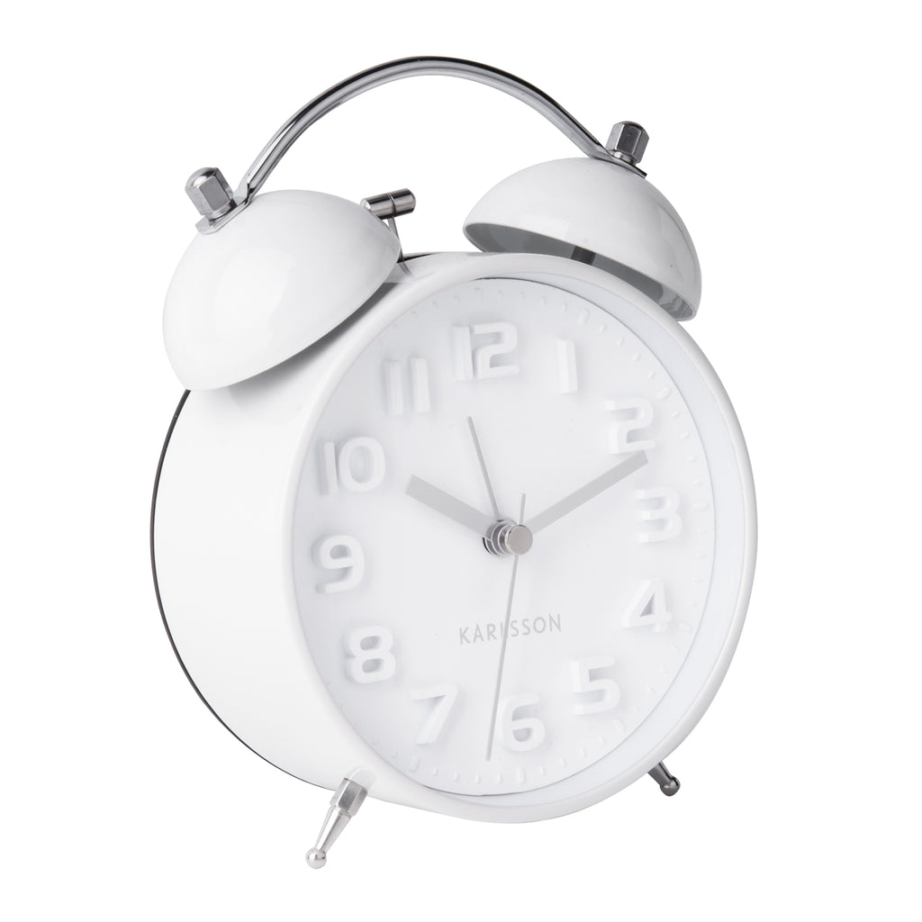 alarm clock white