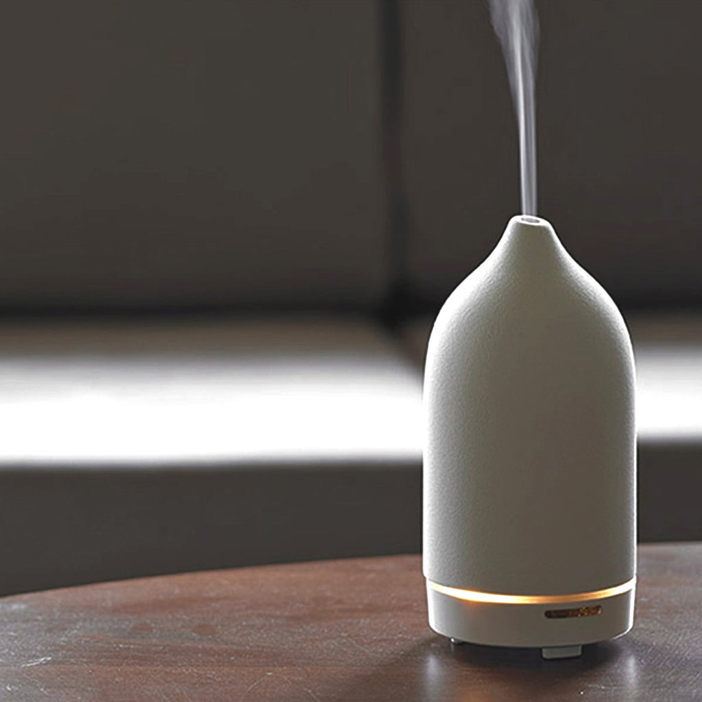 essential oils diffuser white