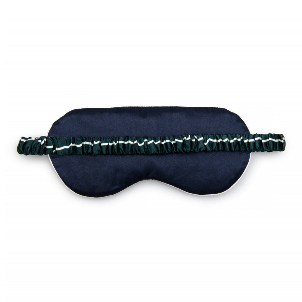 Silk Sleep Mask Striped Green