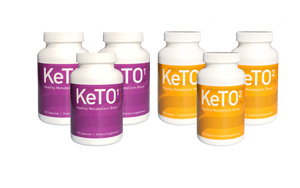 Case of Helix Ketogenic Diet System™ - 3 Bottles Each of KeTO1 + KeTO2