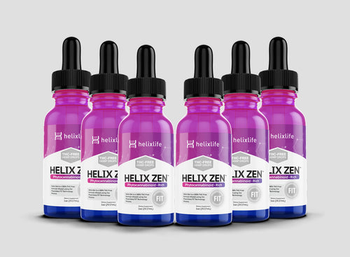 Case of Helix Zen [THC-free] - Six (30ml) Bottles