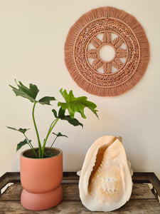 350mm Mandala in Antique Peach