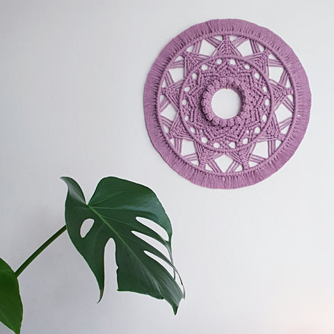 Mandala in Dusty Rose