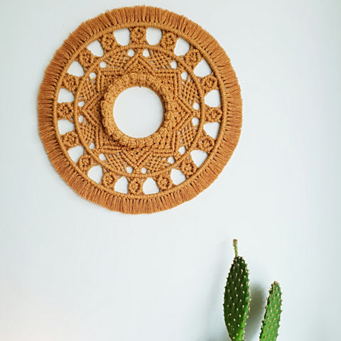 Mandala in dusty mustard