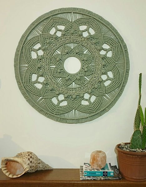 Giant Mandala in Sage