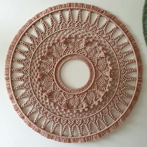 Giant Mandala in Antique Peach