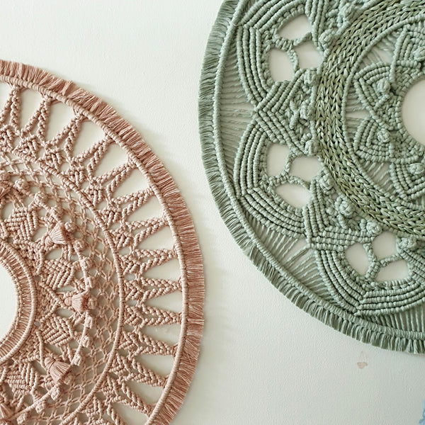 750mm Mandala in Antique Peach