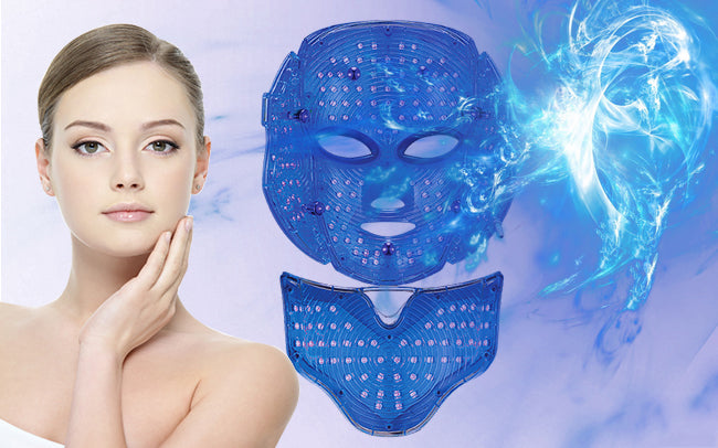 blue light LED therapy mask