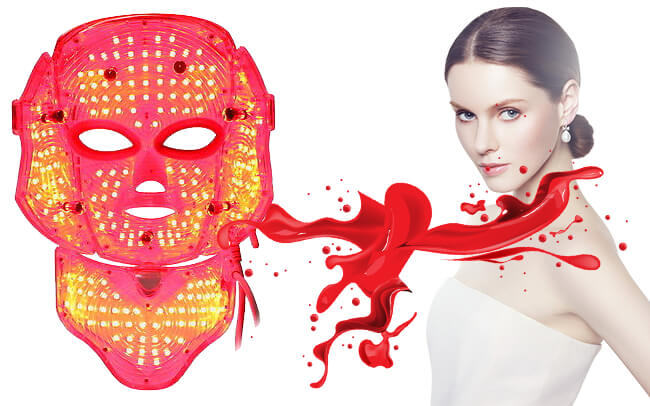 red light therapy LED mask