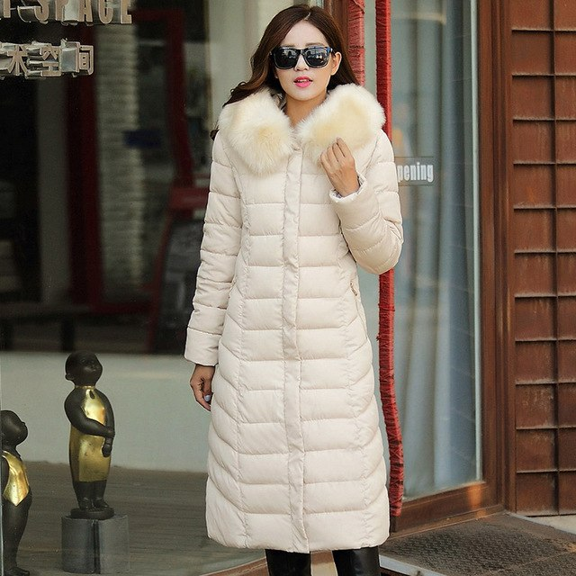 Women Winter Coat Cotton Knee Long Jackets Coat Overcoat Hooded Thick Padded Jacket Lady Plus Size Outerwear Parkas Lq072 img 1