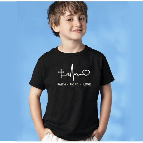 Cool Kid Tshirt Faith Hope Love