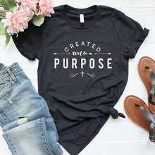 Load image into Gallery viewer, Created with A Purpose Cotton Faith Tee Shirt