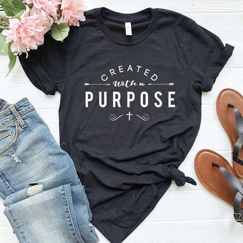 Created with A Purpose Cotton Faith Tee Shirt