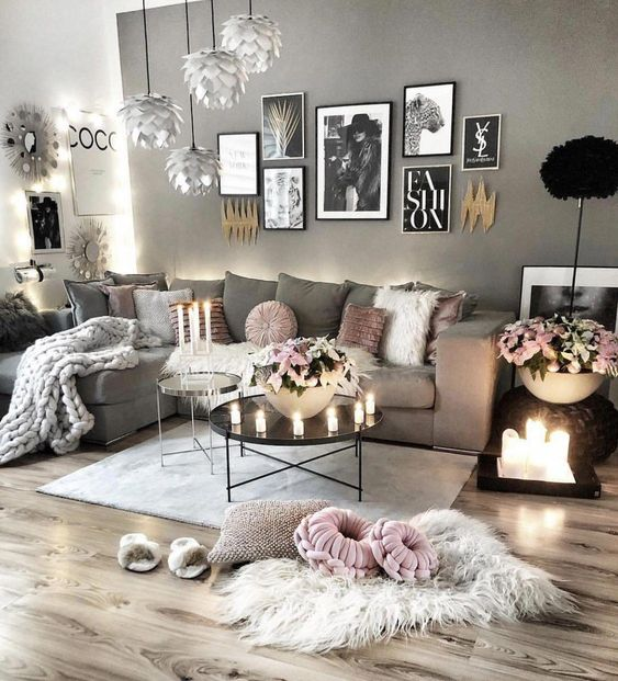neutral living room image full of texture, neutral walls, cushions and rugs etc