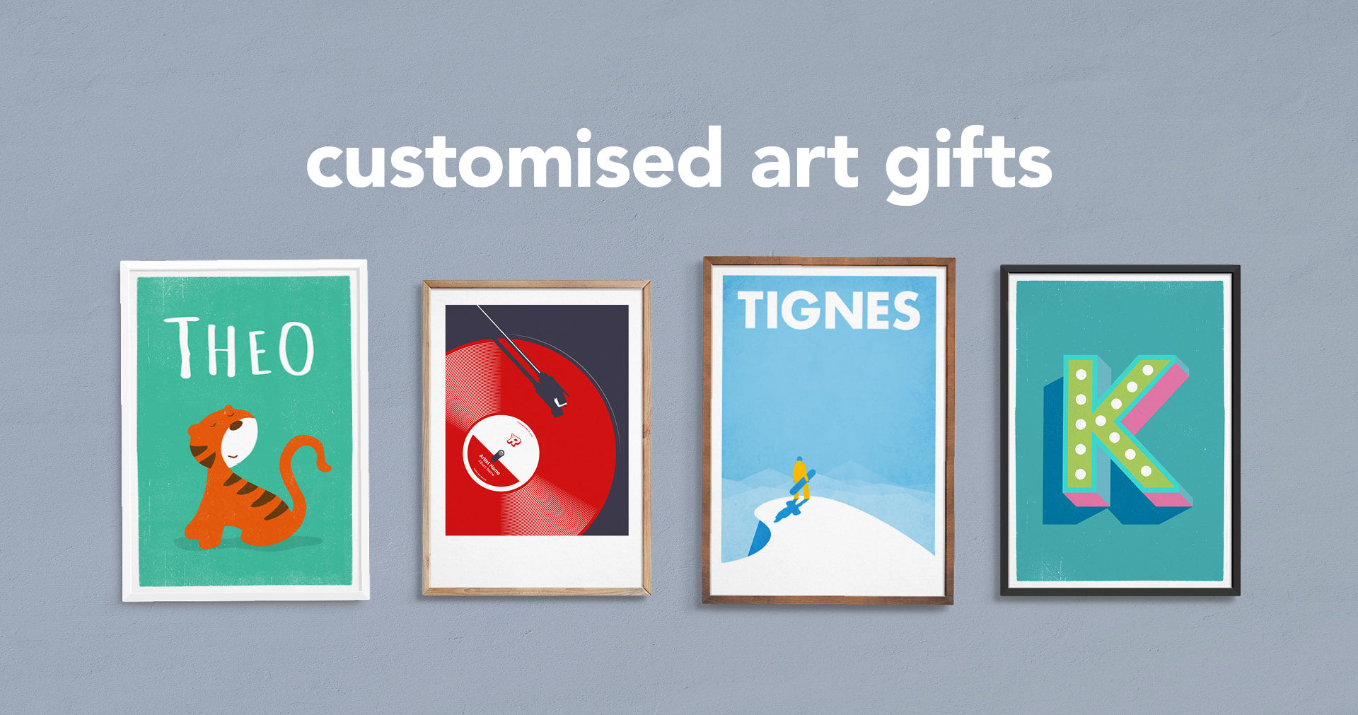 Customised art gifts for you to personalise