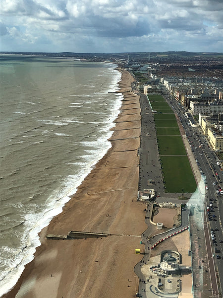 View towards Shoreham from the i360 in Brighton
