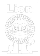 Image of the lion for colouring in