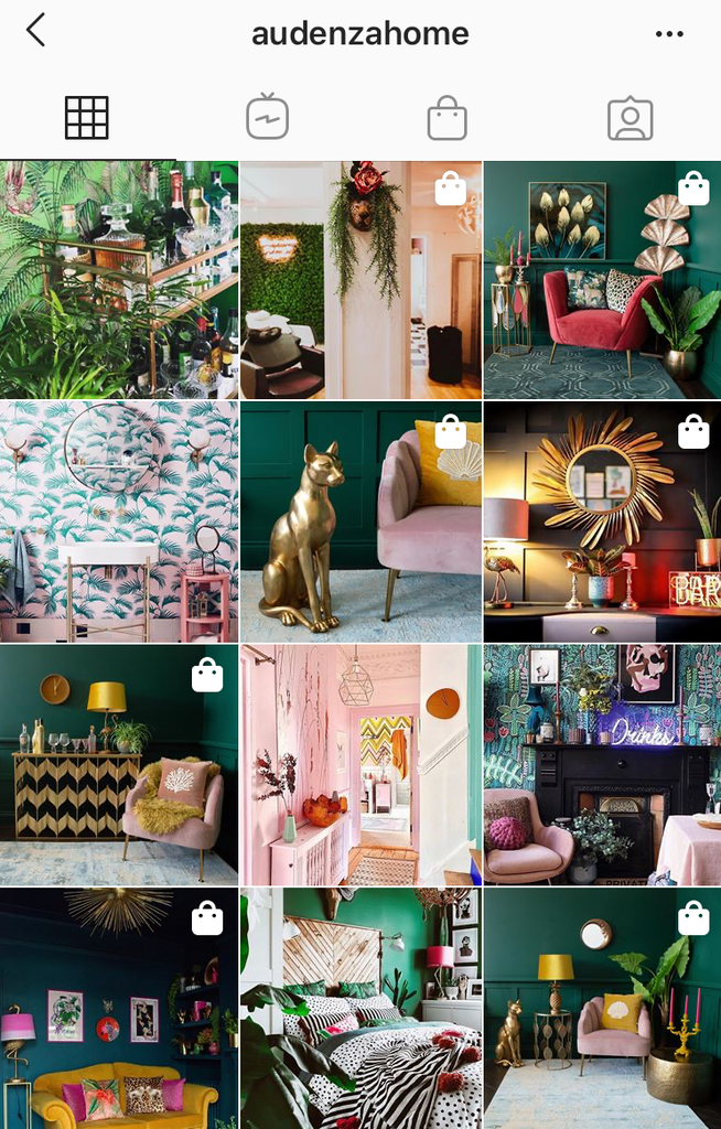 @audenzahome interiors feed on instagram