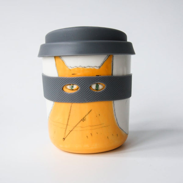 Karo Art fox superhero keep cup