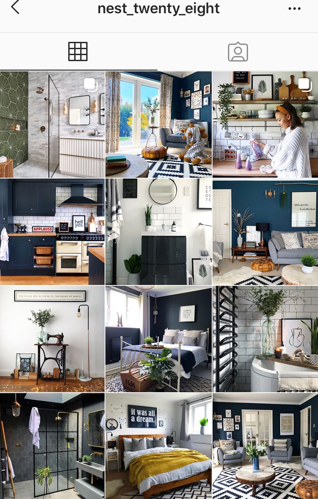 @nest_twenty_eight instagram feed screenshot fabulous home interiors inspiration