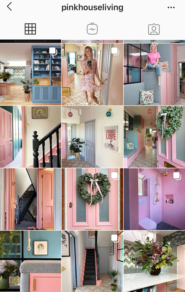 Pink house living interiors feed